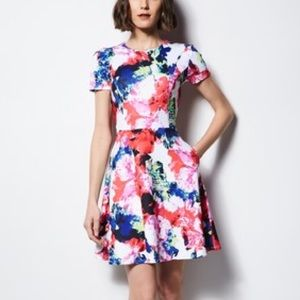 Milly for Designation Floral Fit Flare Dress